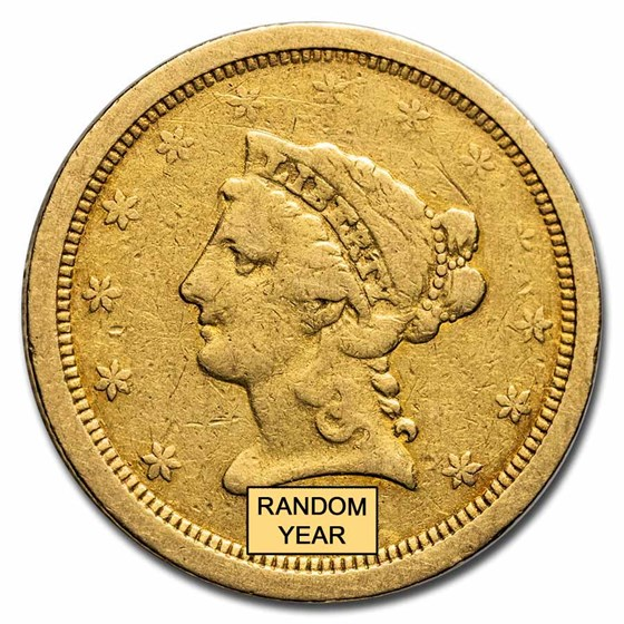 "$2.50 Liberty Gold Quarter Eagle ""O"" Mint (Cleaned)"