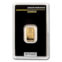2 gram Gold Bar - Argor-Heraeus (In Assay)
