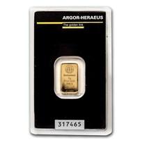 2 gram Gold Bar - Argor-Heraeus