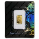 2 gram Gold Bar - Scottsdale Mint (In Certi-Lock® Assay, Black)