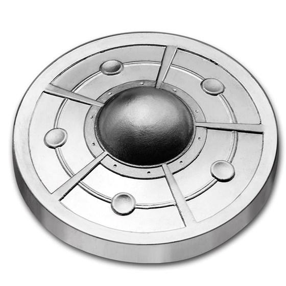 2 oz Cast-Poured Silver - 9Fine Mint (Alien UFO, Spinner)