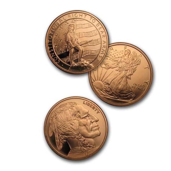 2 oz Copper Round - Random Design