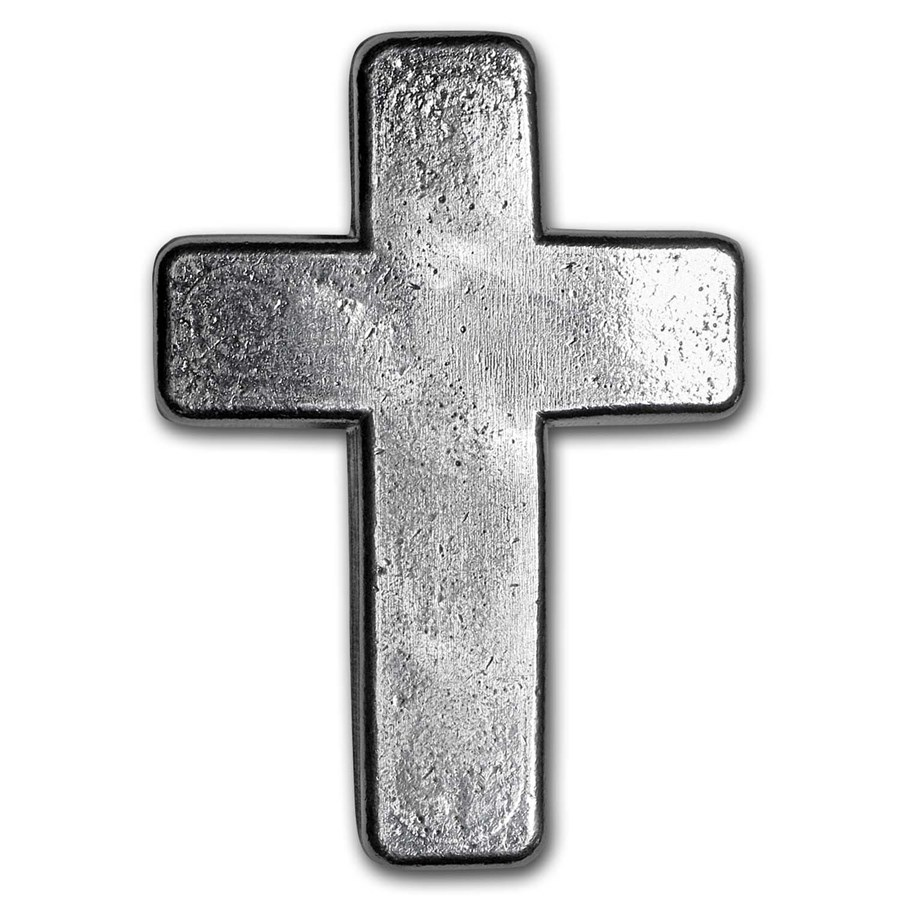 2 oz Hand Poured Silver - 9Fine Mint (Cross)