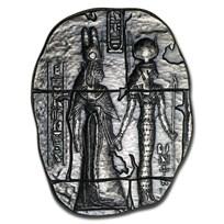 2 oz Hand Poured Silver Relic Bar - Egyptian Goddesses