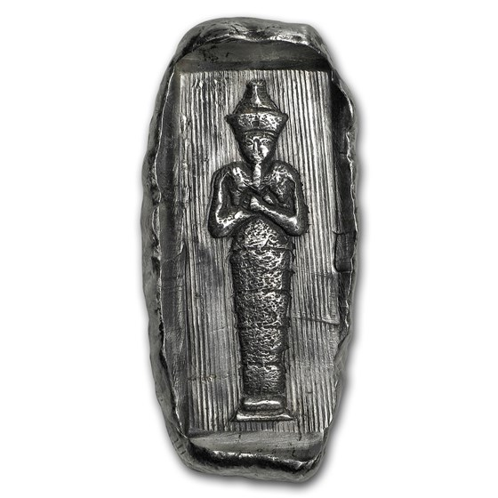 2 oz Hand Poured Silver Relic Bar - Egyptian Tomb: Ramses II