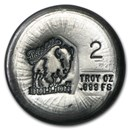 2 oz Hand Poured Silver Round - BB