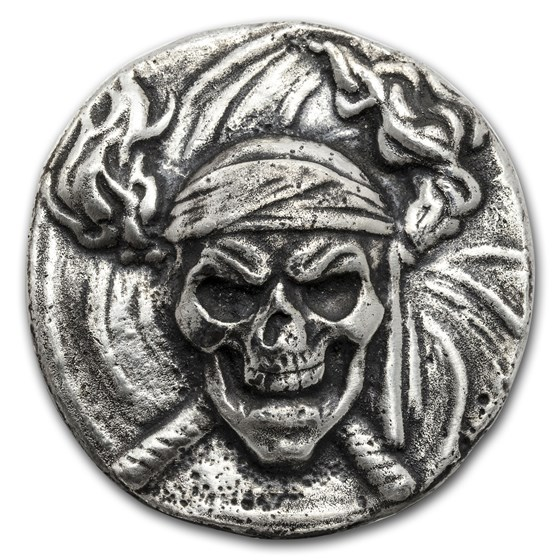 2 oz Hand Poured Silver Round - Limited Edition: Buccaneer