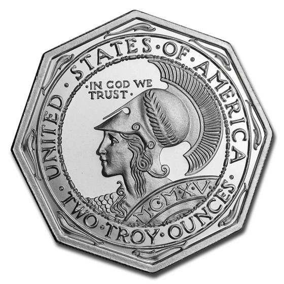 2 oz Silver High Relief Octagonal - Panama-Pacific