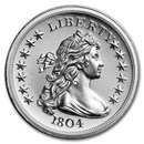 2 oz Silver High Relief Round - 1804 Dollar