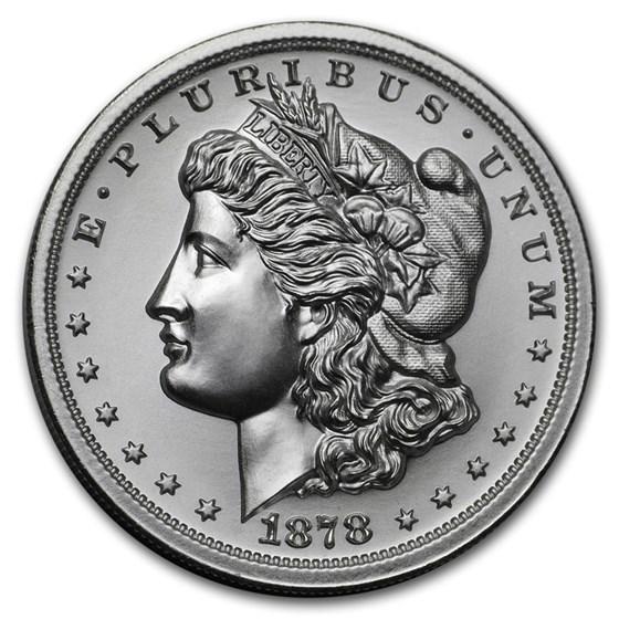2 oz Silver High Relief Round - 1878 Morgan Dollar