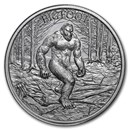 2 oz Silver High Relief Round - Bigfoot