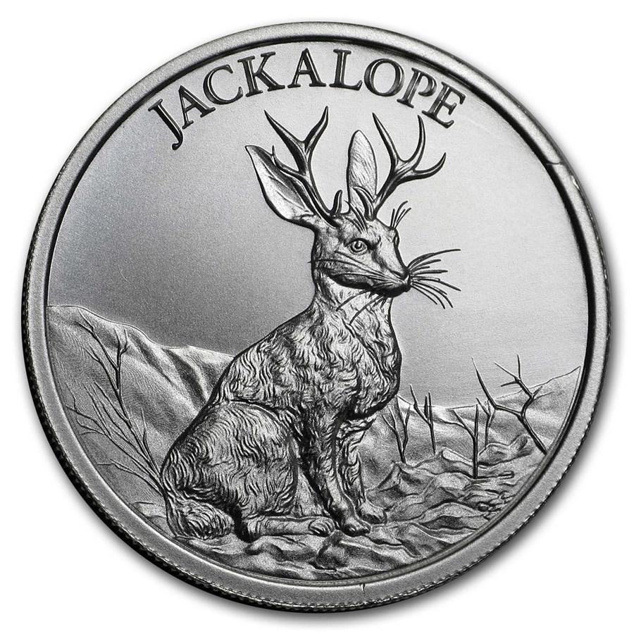 2 oz Silver High Relief Round - Jackalope