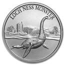 2 oz Silver High Relief Round - Loch Ness Monster