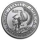 2 oz Silver High Relief Round - Panama-Pacific
