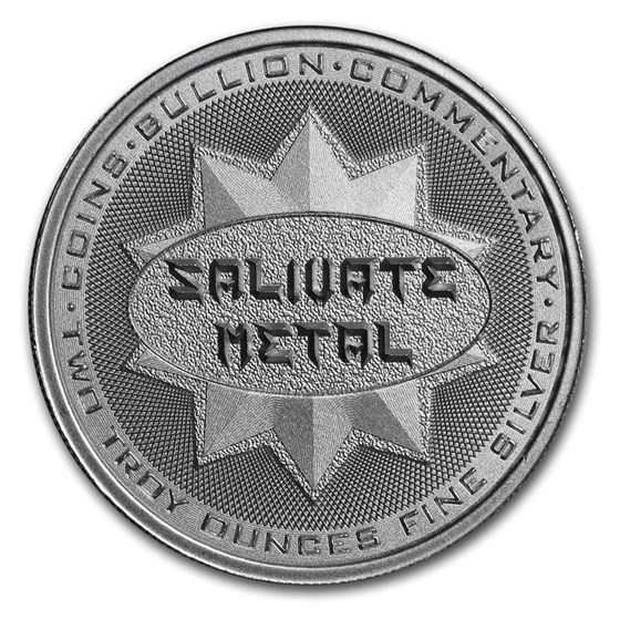 2 oz Silver High Relief Round - Salivate Metal