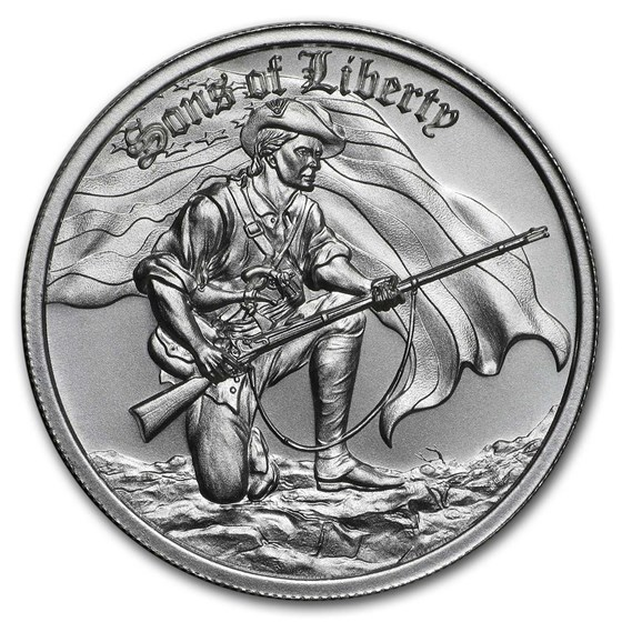 2 oz Silver High Relief Round - Sons of Liberty, Liberty Tree