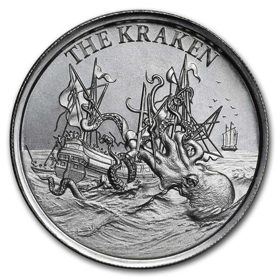 2 oz Silver High Relief Round - The Kraken