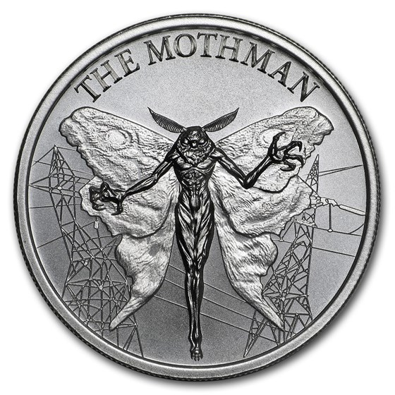 2 oz Silver High Relief Round - The Mothman