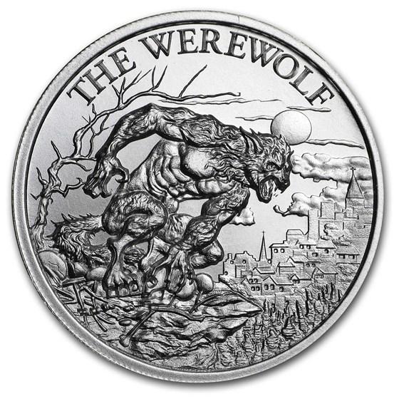 2 oz Silver High Relief Round - The Werewolf