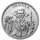 2 oz Silver High Relief Round - Vintage Horror Series: Dracula