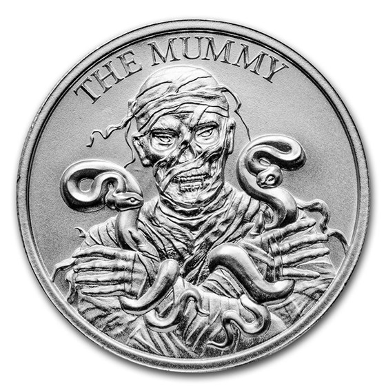 2 oz Silver High Relief Round - Vintage Horror Series: The Mummy
