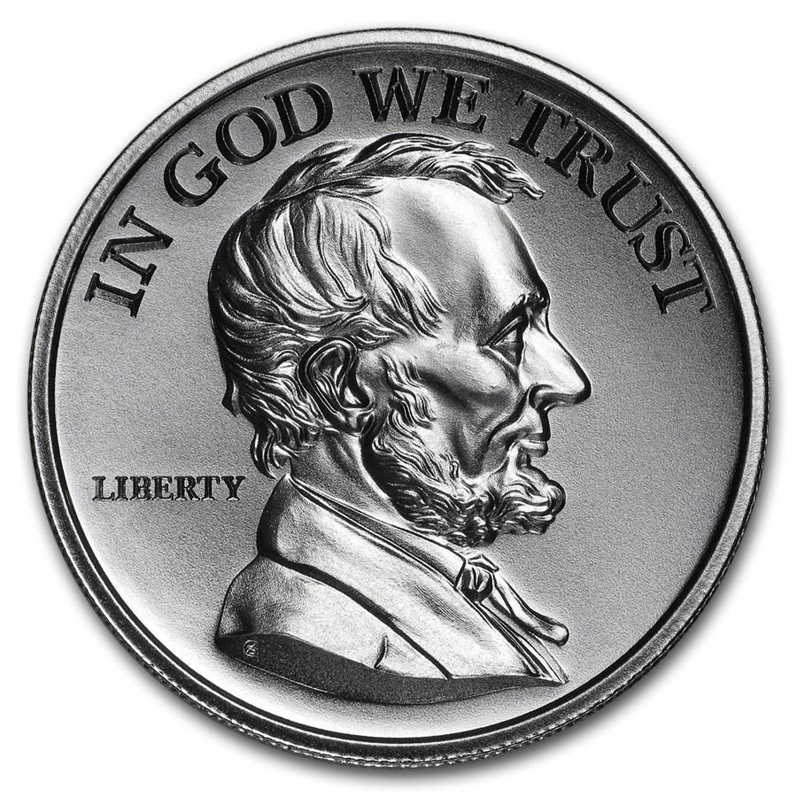2 oz Silver HR Round - Presidential Tribute Series: Lincoln