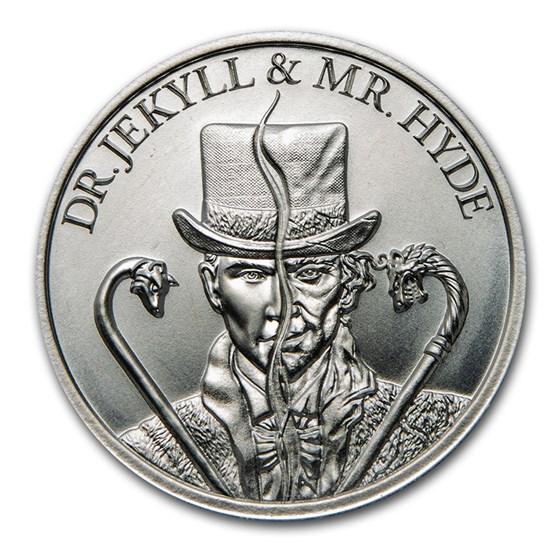 2 oz Silver HR Round - Vintage Horror Series: Dr. Jekyll & Hyde