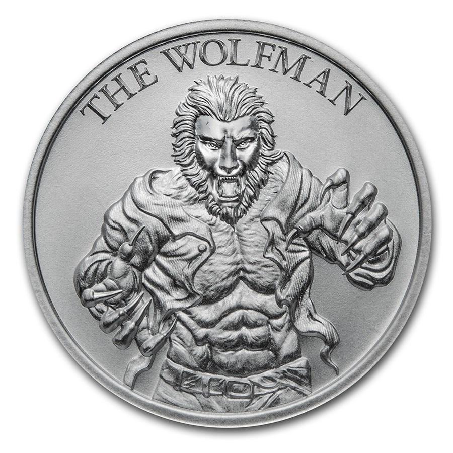 2 oz Silver HR Round - Vintage Horror Series: The Wolfman