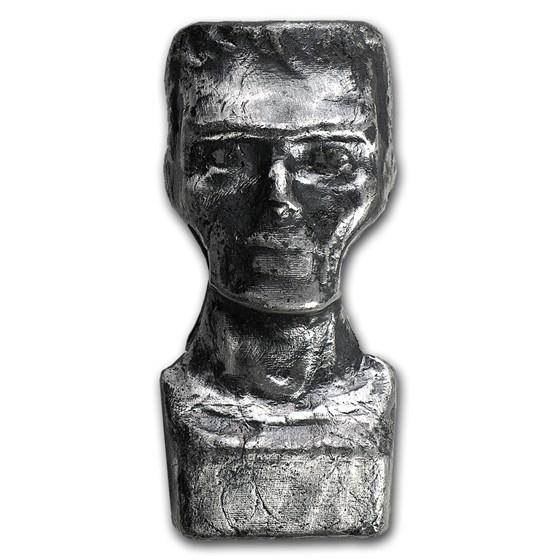 2 oz Silver - MK Barz & Bullion (3D Frankenstein)