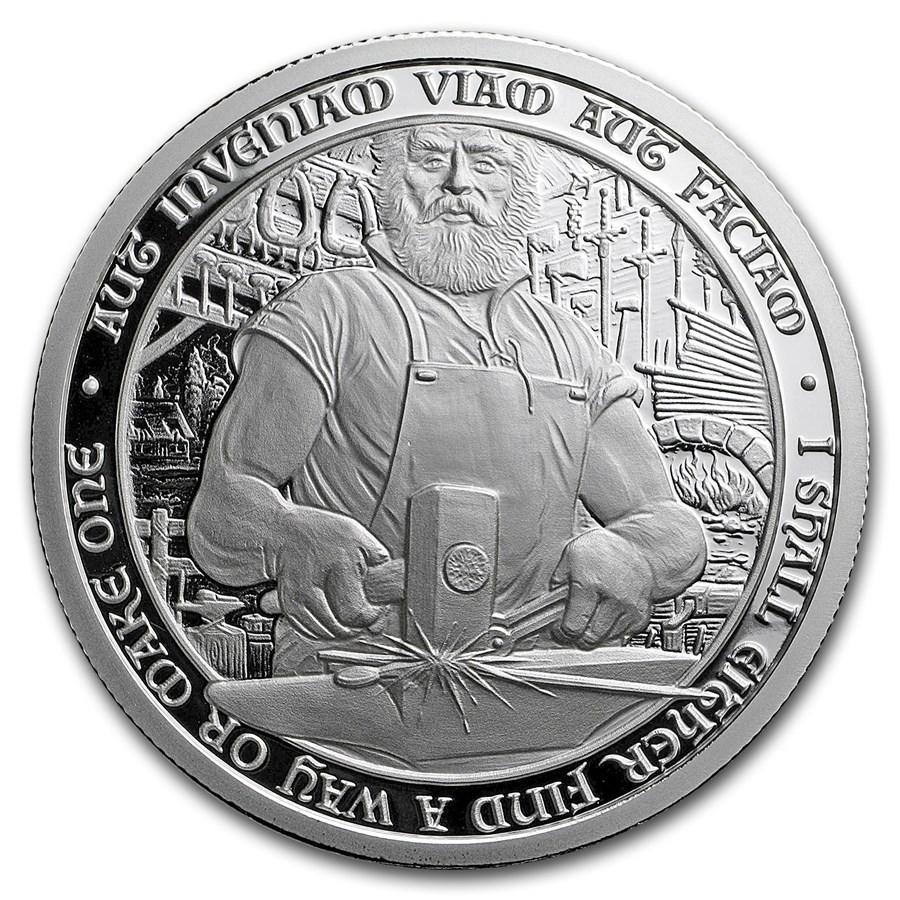 2 oz Silver Proof Round - Destiny Knight: The Blacksmith (w/COA)