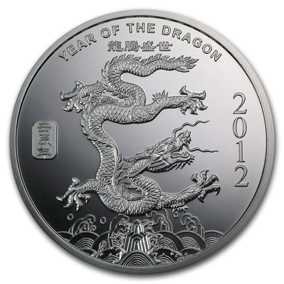 2 oz Silver Round - APMEX (2012 Year of the Dragon)