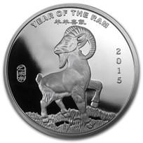 2 oz Silver Round - APMEX (2015 Year of the Ram)