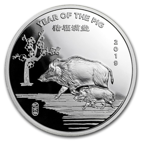 2 oz Silver Round - APMEX (2019 Year of the Pig)