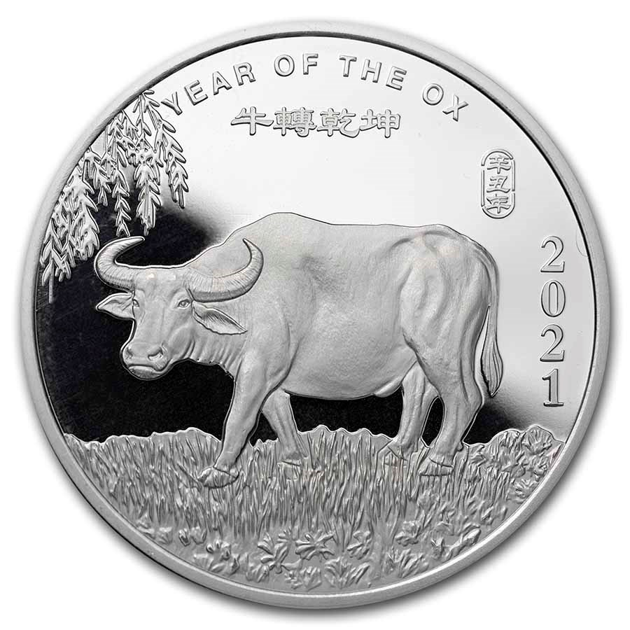 2 oz Silver Round - APMEX (2021 Year of the Ox)