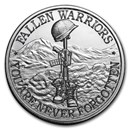 2 oz Silver Round - Battlefield Cross
