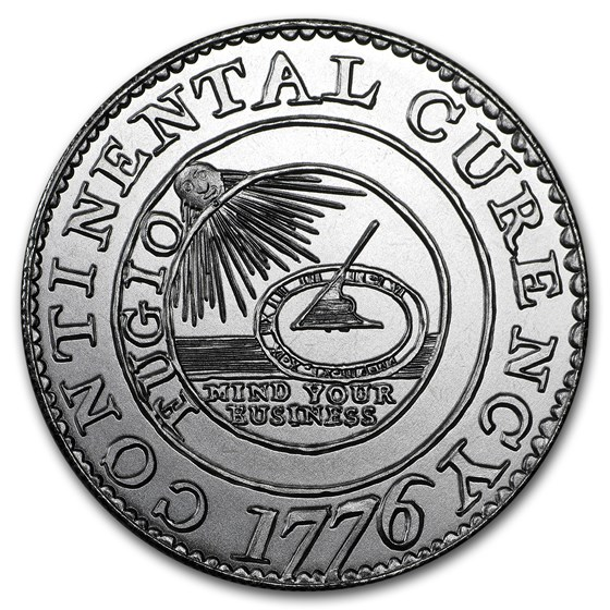 2 oz Silver Round - Colonial Tribute Series: Continental Dollar
