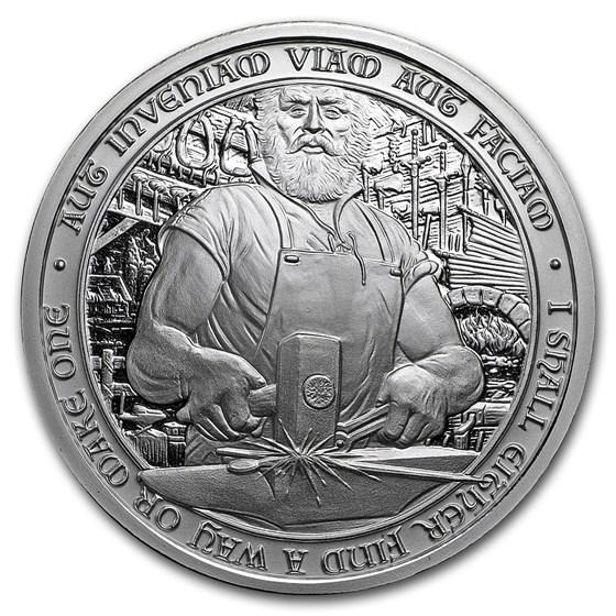 2 oz Silver Round - Destiny Knight: Duncan The Blacksmith