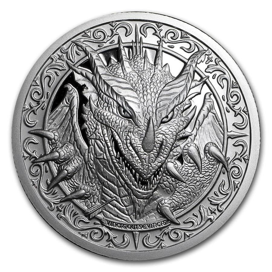 2 oz Silver Round - Destiny Knight: The Dragon