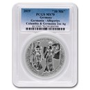 2 oz Silver Round - Germania Allegories 2019 Columbia MS-70 PCGS