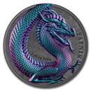 2 oz Silver Round - Germania Beasts (Fafnir, Ultra High Relief)