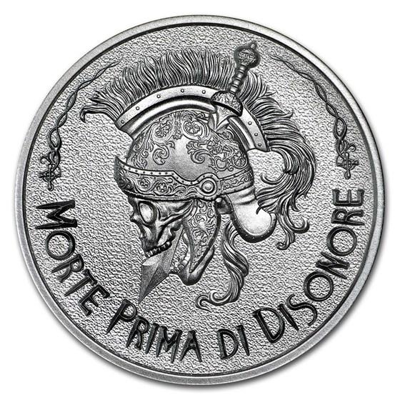 2 oz Silver Round - Latin Allure Series: Death before Dishonor