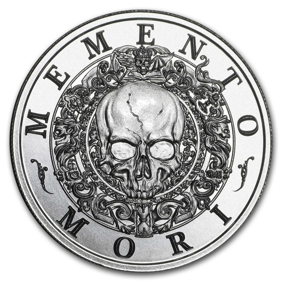 2 oz Silver Round - Latin Allure Series: Memento Mori
