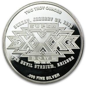2 oz Silver Round - Super Bowl XXX