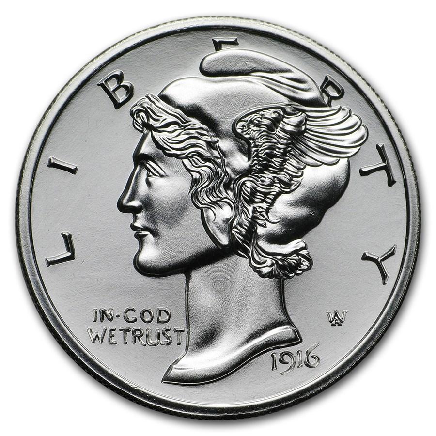 2 oz Silver Round - Winged Liberty Mercury Dime