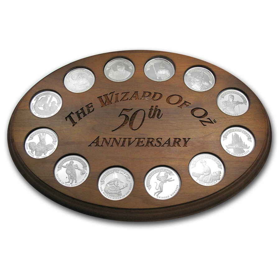 2 oz Silver Round - Wizard of Oz 50th Anniv (12 Piece Set)