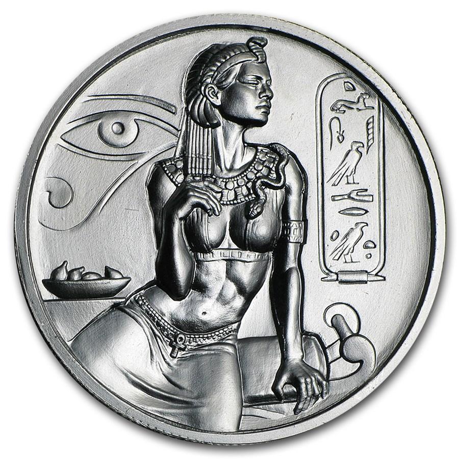 2 oz Silver UHR Round - Egyptian Gods Series: Cleopatra