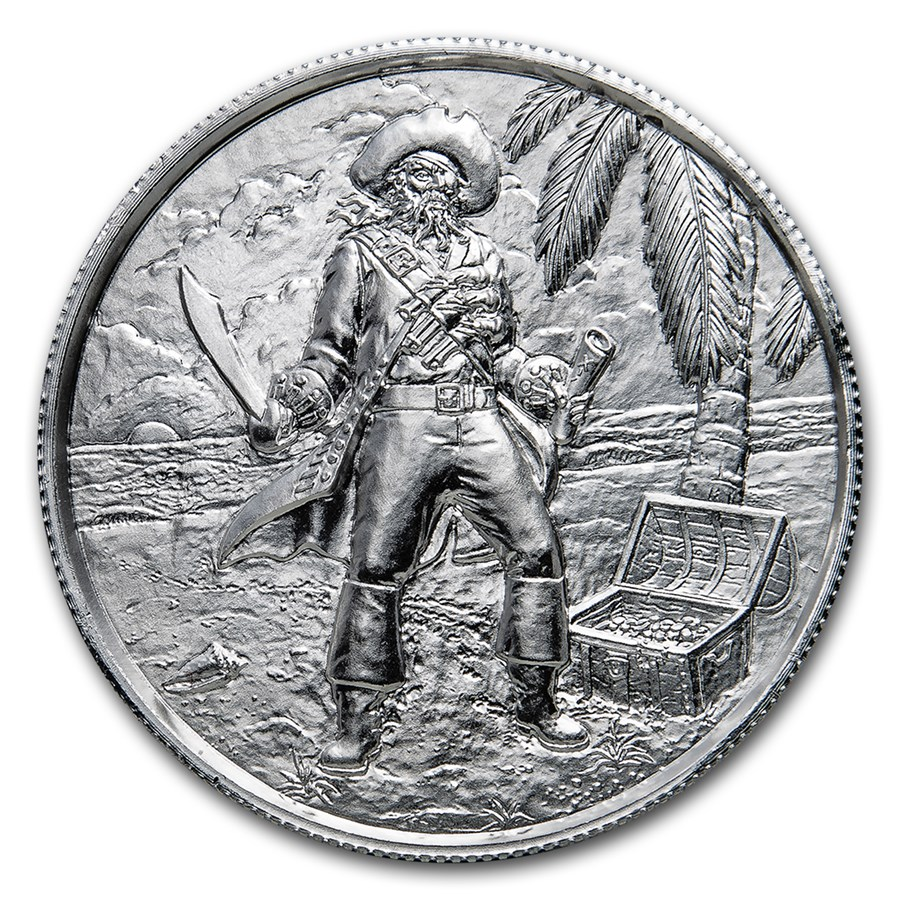 2 oz Silver UHR Round - Privateer Series: The Captain