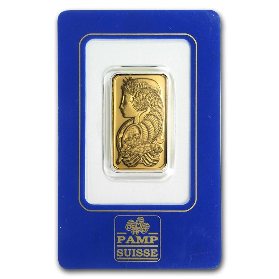 2 Tolas Gold Bar - PAMP Suisse Fortuna