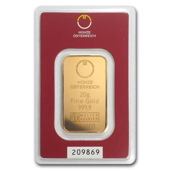 20 gram Gold Bar - Austrian Mint (In Assay)