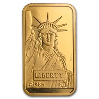 20 gram Gold Bar - Credit Suisse Statue of Liberty (In Assay)